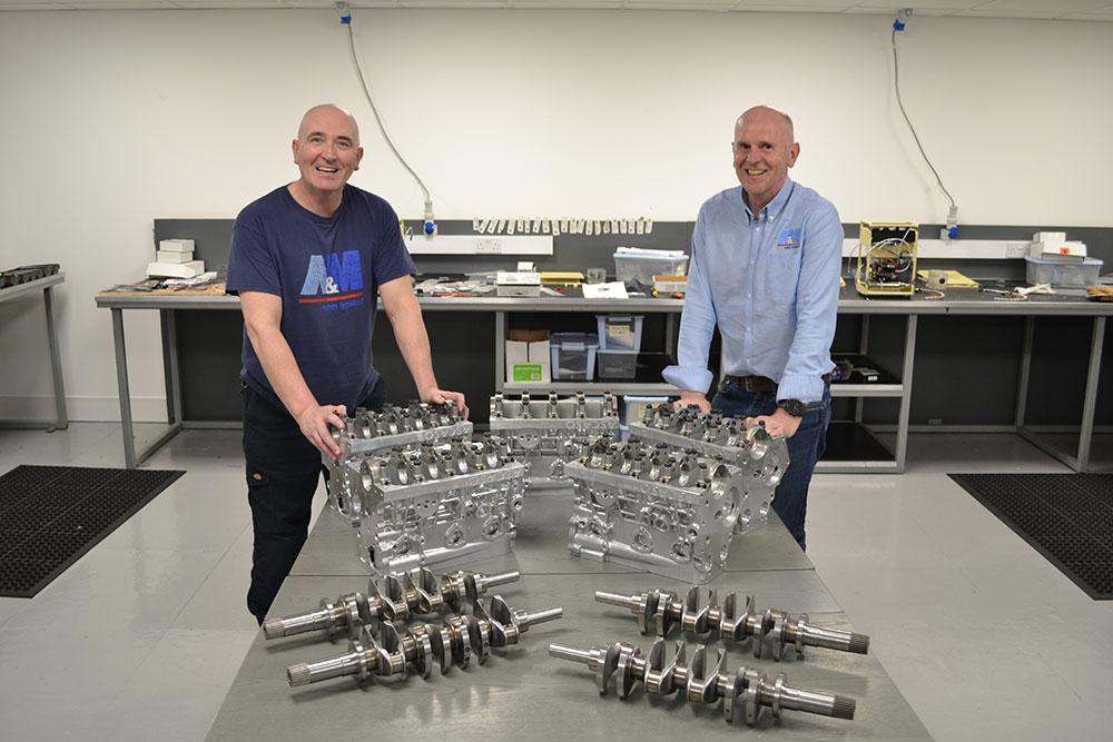 Gary & Mark With A+5 Engine Blocks