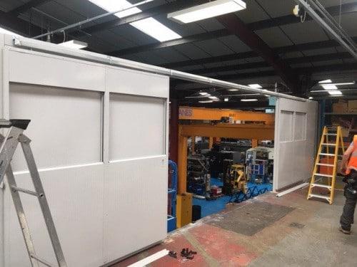 aw3 500 New anchor wall screens to increase factory space