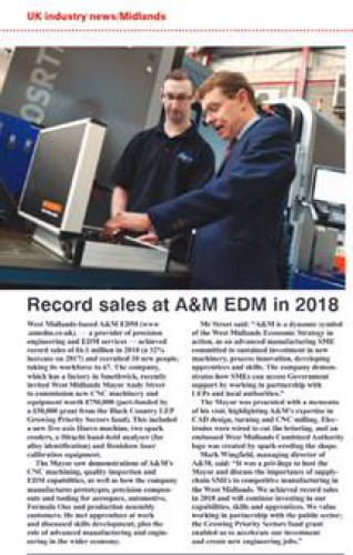 machinery market 500 Media coverage for Mayor Andy Street's visit to A&M