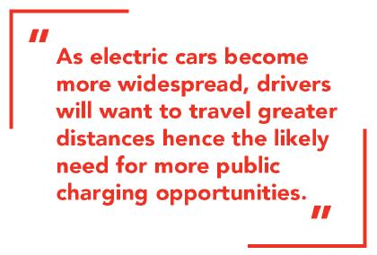 The need for more public charging opportunities.