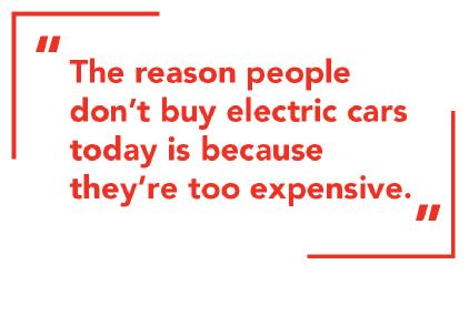 The reasons why people dont buy electric cars.
